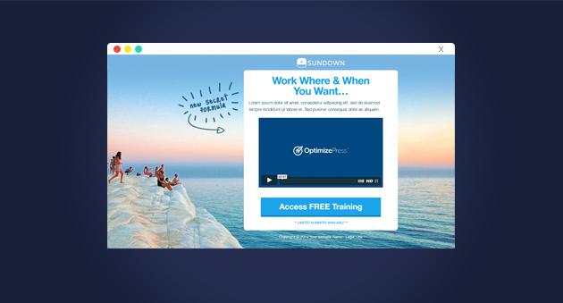 [OptimizePress Club] SUNDOWN – Landing Page Funnel…