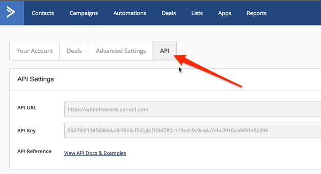 OptimizePress-ActiveCampaign-API