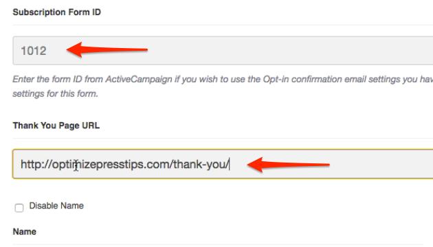 OptimizePress-ActiveCampaign-FormID-ThankYouURL