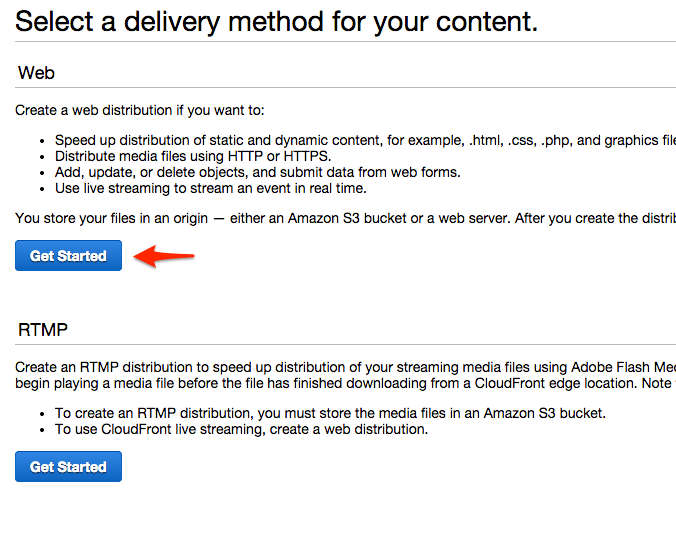 Speed-Up-WordPress-aws-select-delivery-method