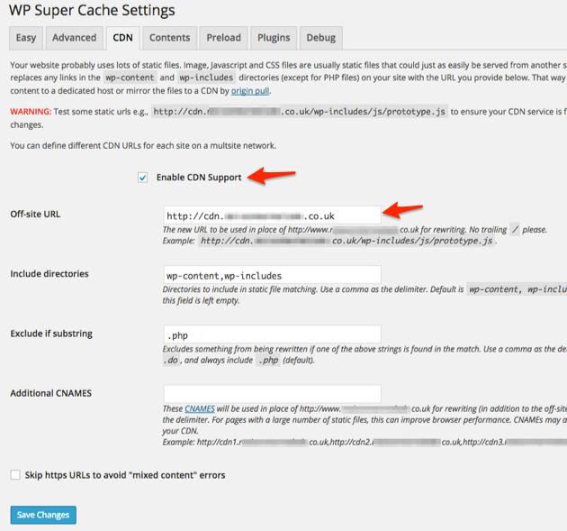 Speed-Up-WordPress-wp-super-cache-CDN