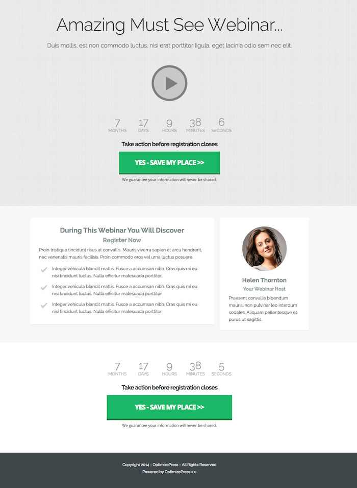 Awesome New Templates In OptimizePress 2.4 - OptimizePress