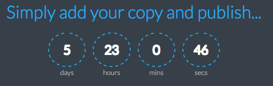Scarcity with Countdown Timers | Countdown CSS Blue