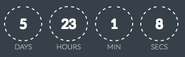 Scarcity with Countdown Timers | Countdown CSS Dashed
