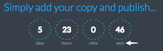 Scarcity with Countdown Timers | Countdown CSS Small Font