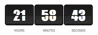 Scarcity with Countdown Timers | Countdown Timer Style #1