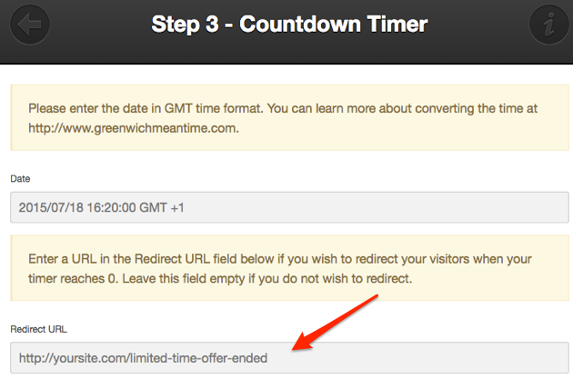Scarcity with Countdown Timers | Countdown Timer Redirect URL