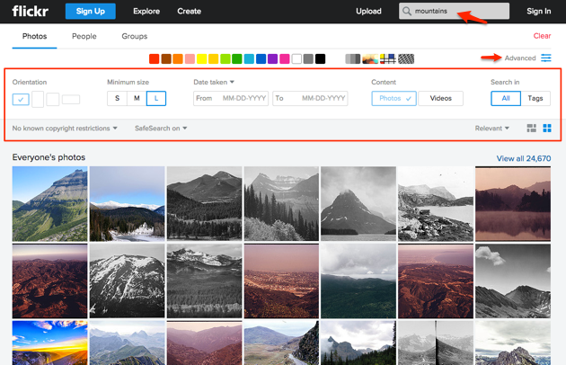 Free stock photos   Flickr Search Box