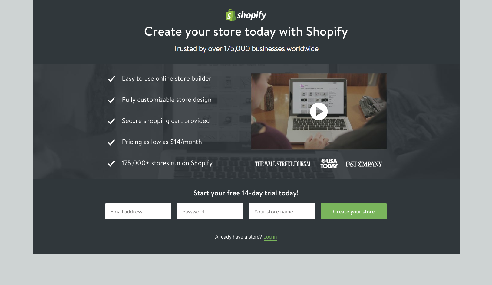 Website Teardown How To Build The Shopify Free Trial Landing - Shopify landing page template