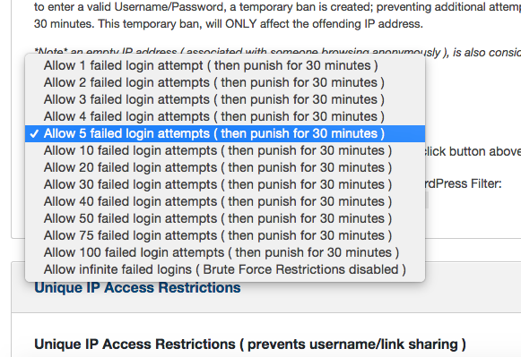 Membership software features for growing a successful website | Set Failed Login Attempts
