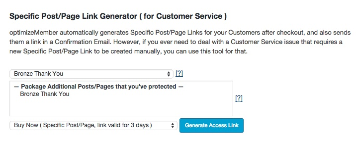 Membership software features for growing a successful website | Post and Page Link Generator