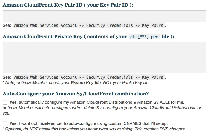 Membership software features for growing a successful website | Amazon Cloudfront Integration Setup