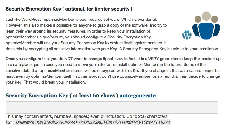 Membership software features for growing a successful website | Security Encryption Key