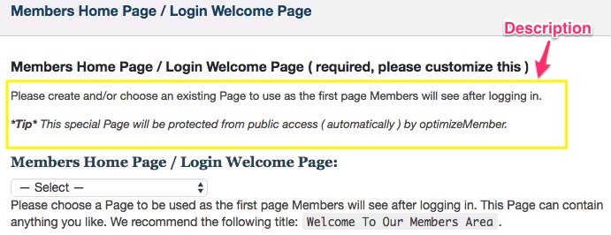 Membership software features for growing a successful website | Set Login Welcome Page Description