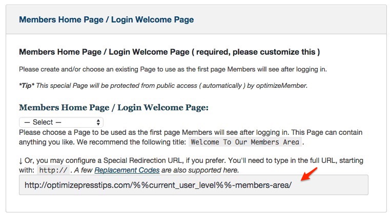 Membership software features for growing a successful website | Set Login Welcome Page