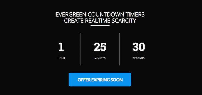 URGENCY - this offer shows that it is expiring soon
