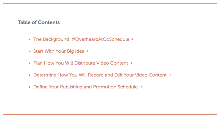 How to craft the perfect blog post   Table of Contents