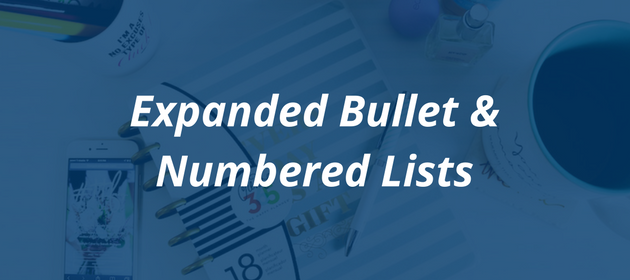 How to craft the perfect blog post   Expanded Bullet and Numbered Lists