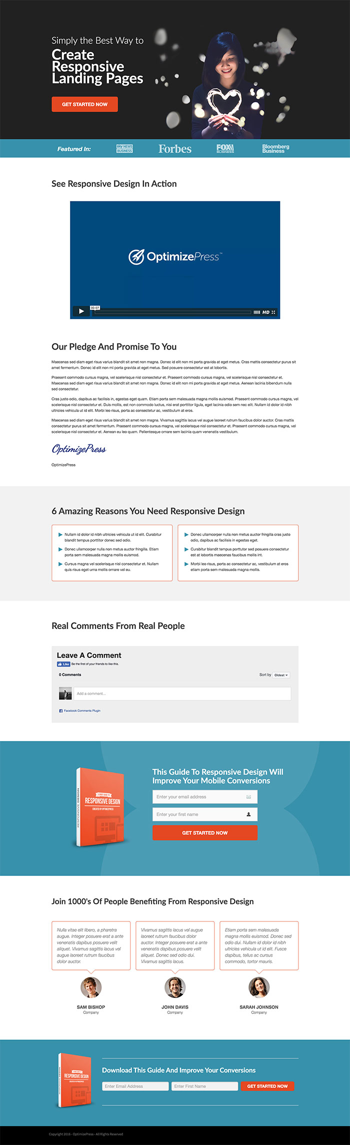 February Template Roundup | Leadership Landing Page