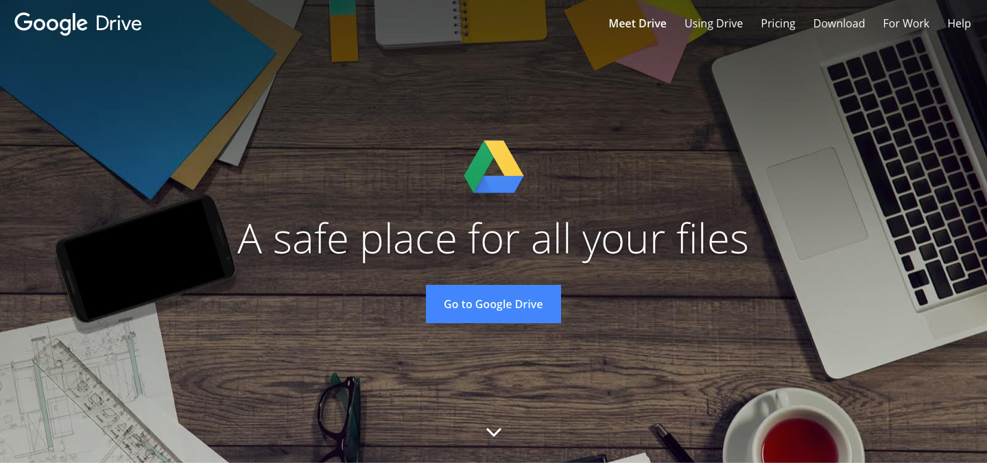 Landing Page Examples from Top Tech Companies | Google Drive