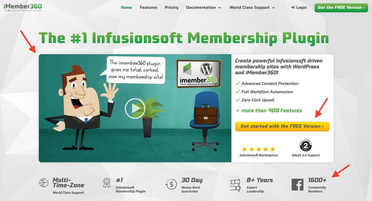 Landing Page Examples from Top Tech Companies   iMember360 Membership Software
