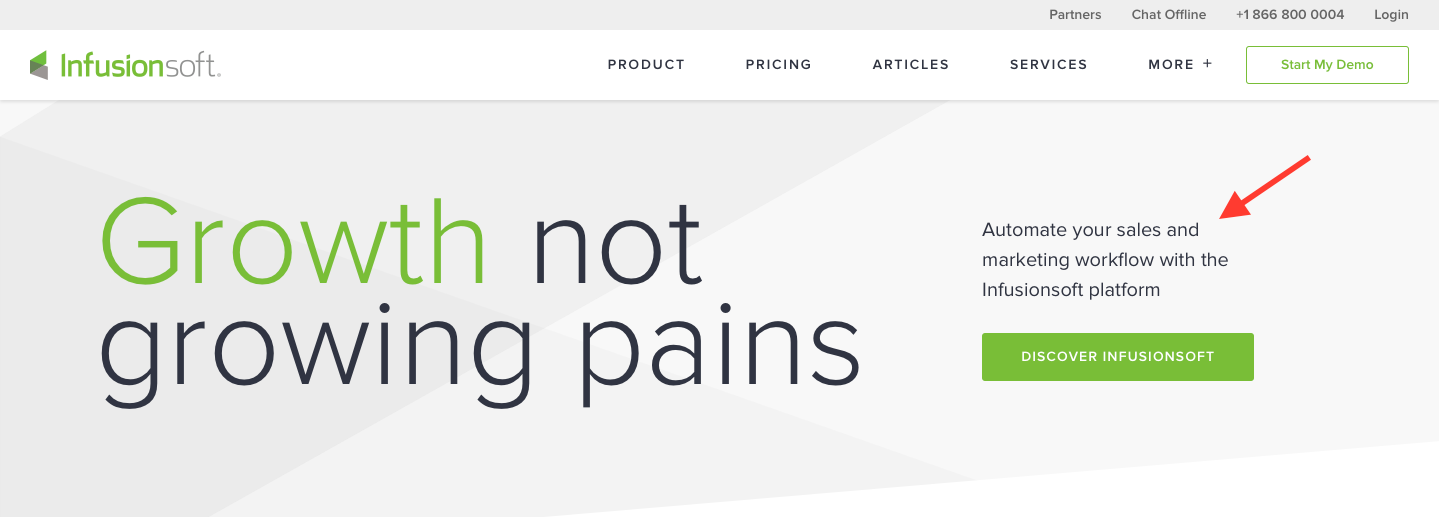Landing Page Examples from Top Tech Companies | Infusionsoft Application