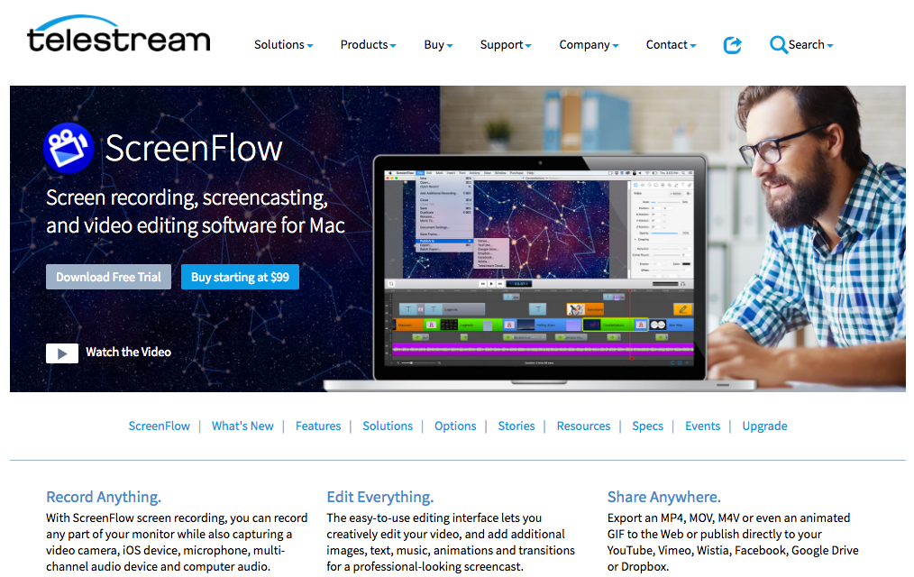 Landing Page Examples from Top Tech Companies   Telestream Application