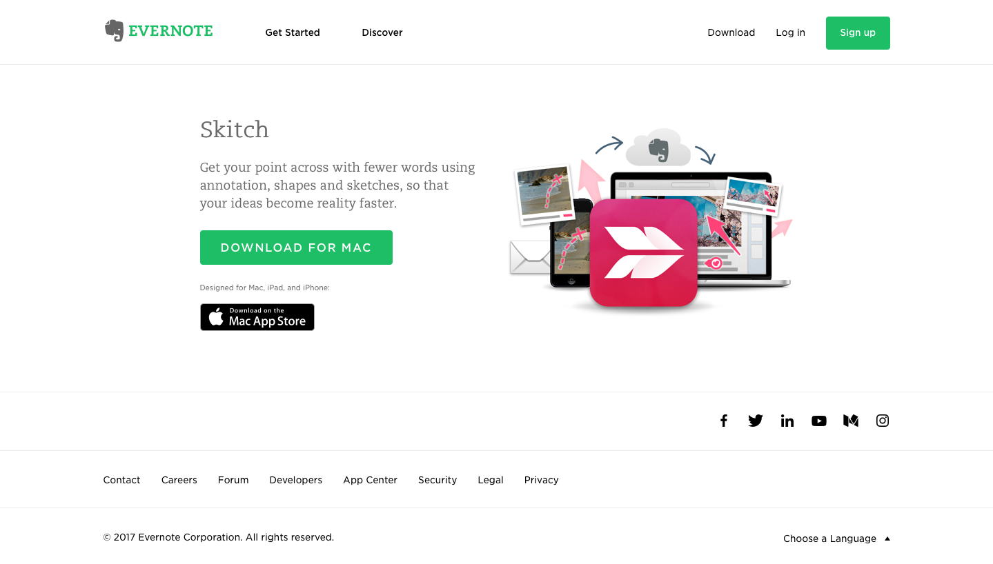 Landing Page Examples from Top Tech Companies | Evernote Application