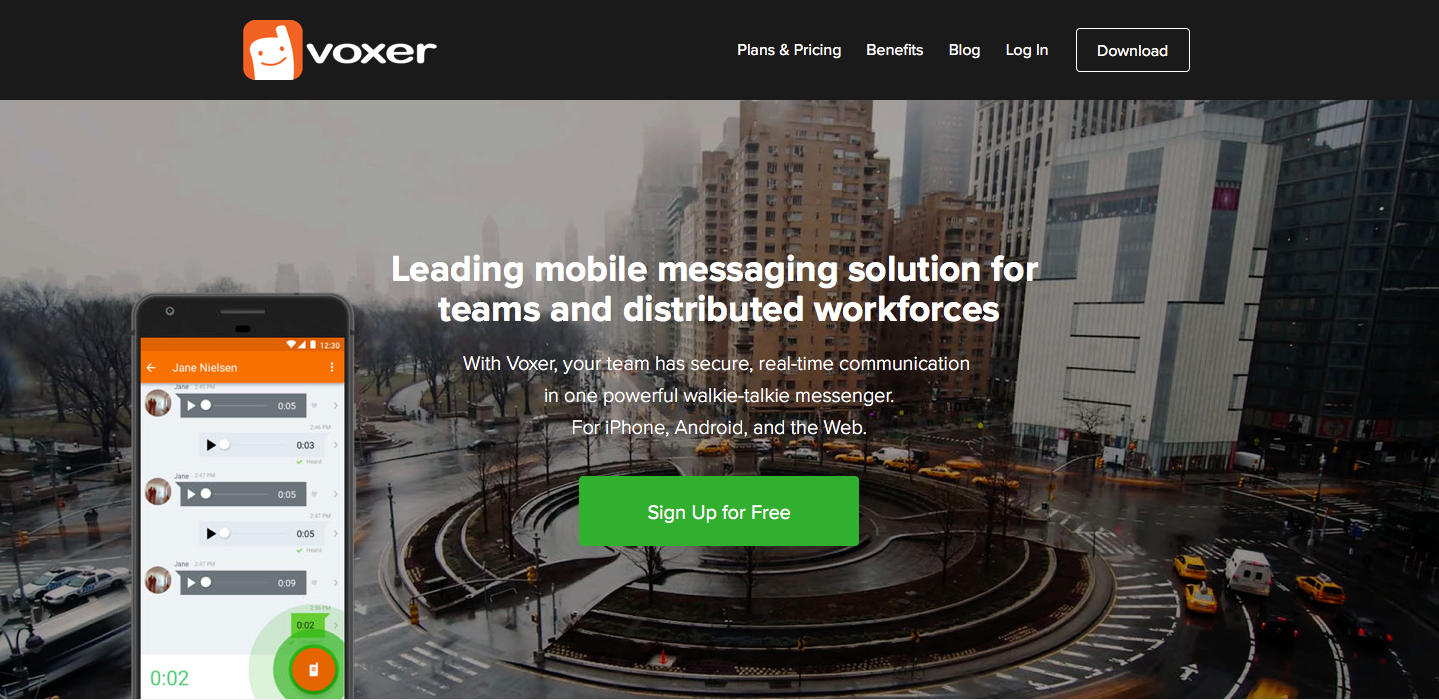Landing Page Examples from Top Tech Companies | Voxer Application