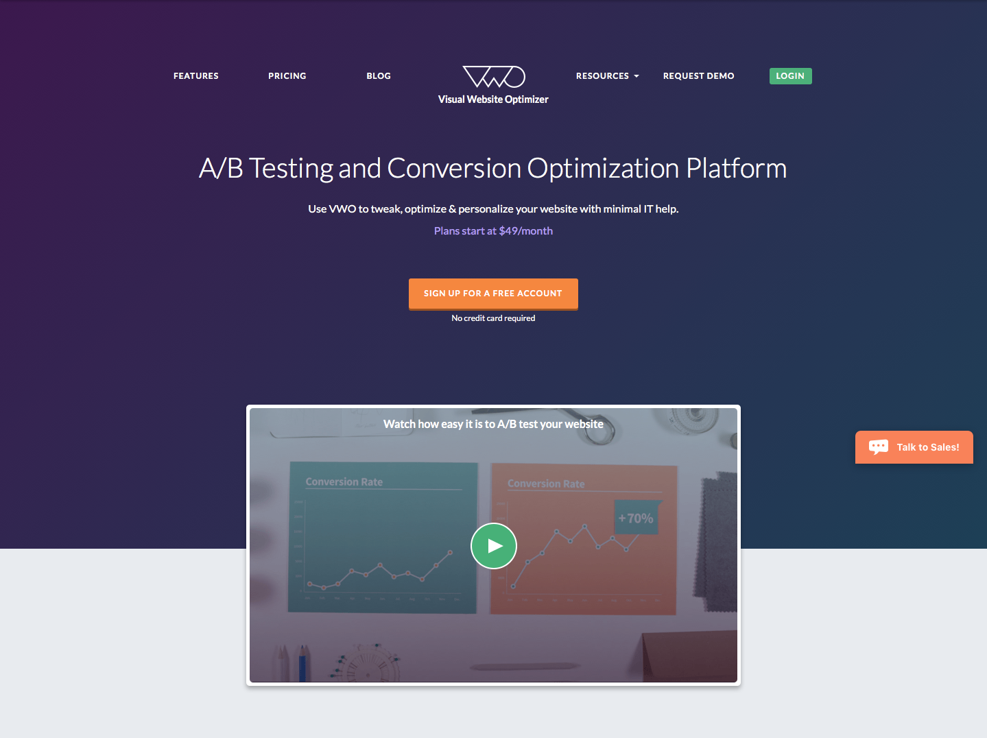 Landing Page Examples from Top Tech Companies | Visual Website Optimizer Application