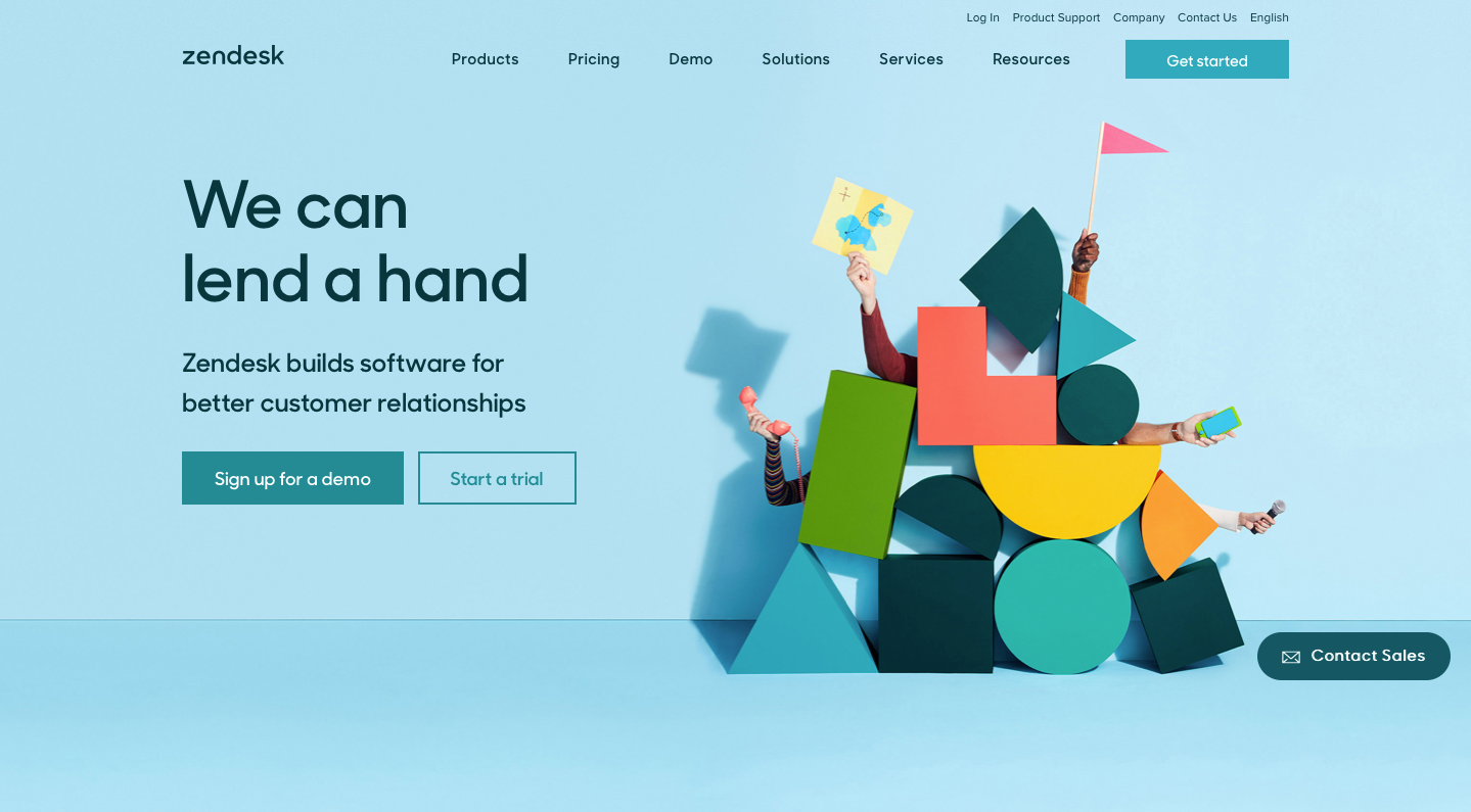 Landing Page Examples from Top Tech Companies | Zendesk Application