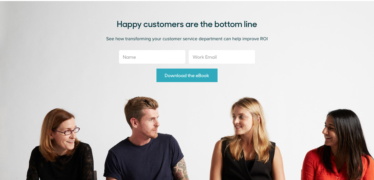 Landing Page Examples from Top Tech Companies | Zendesk Optin Area
