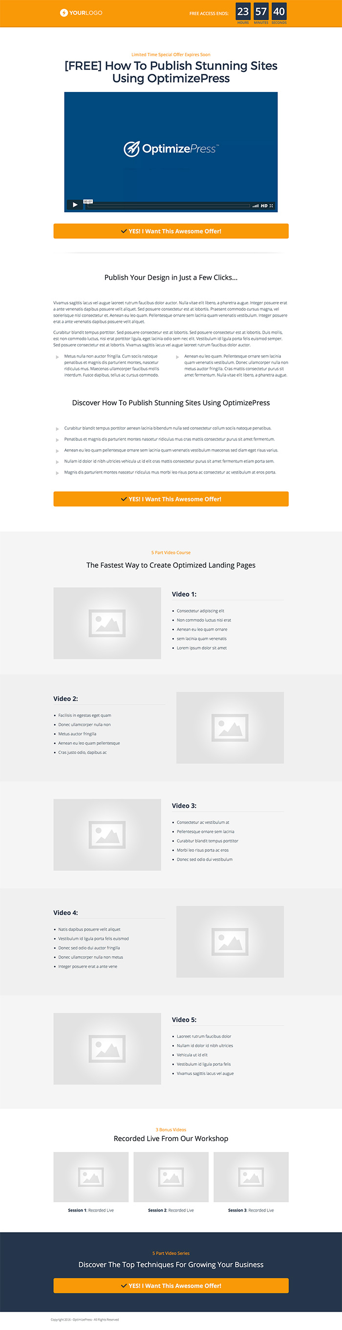 OptimizePress June Template Roundup | Bunker Landing Page