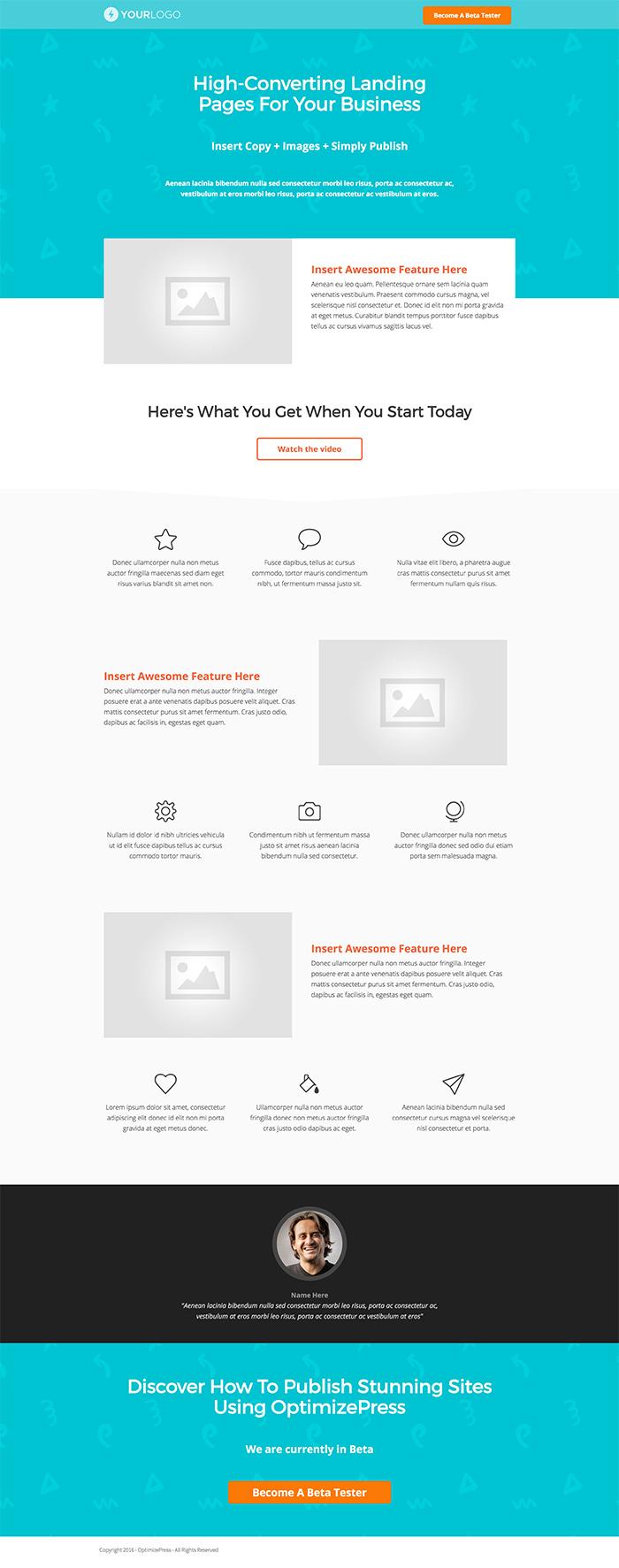 OptimizePress July Template Roundup   General Landing Page