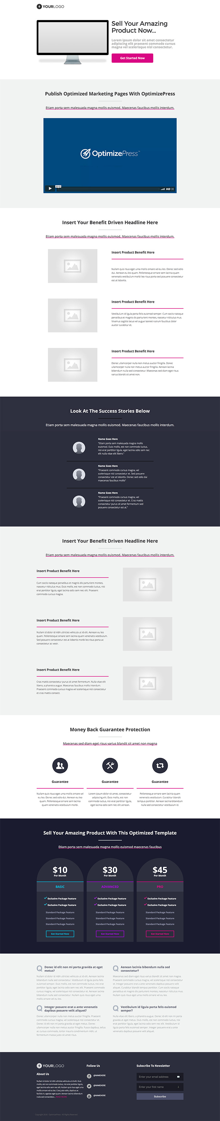 OptimizePress July Template Roundup   Neon Sales Page