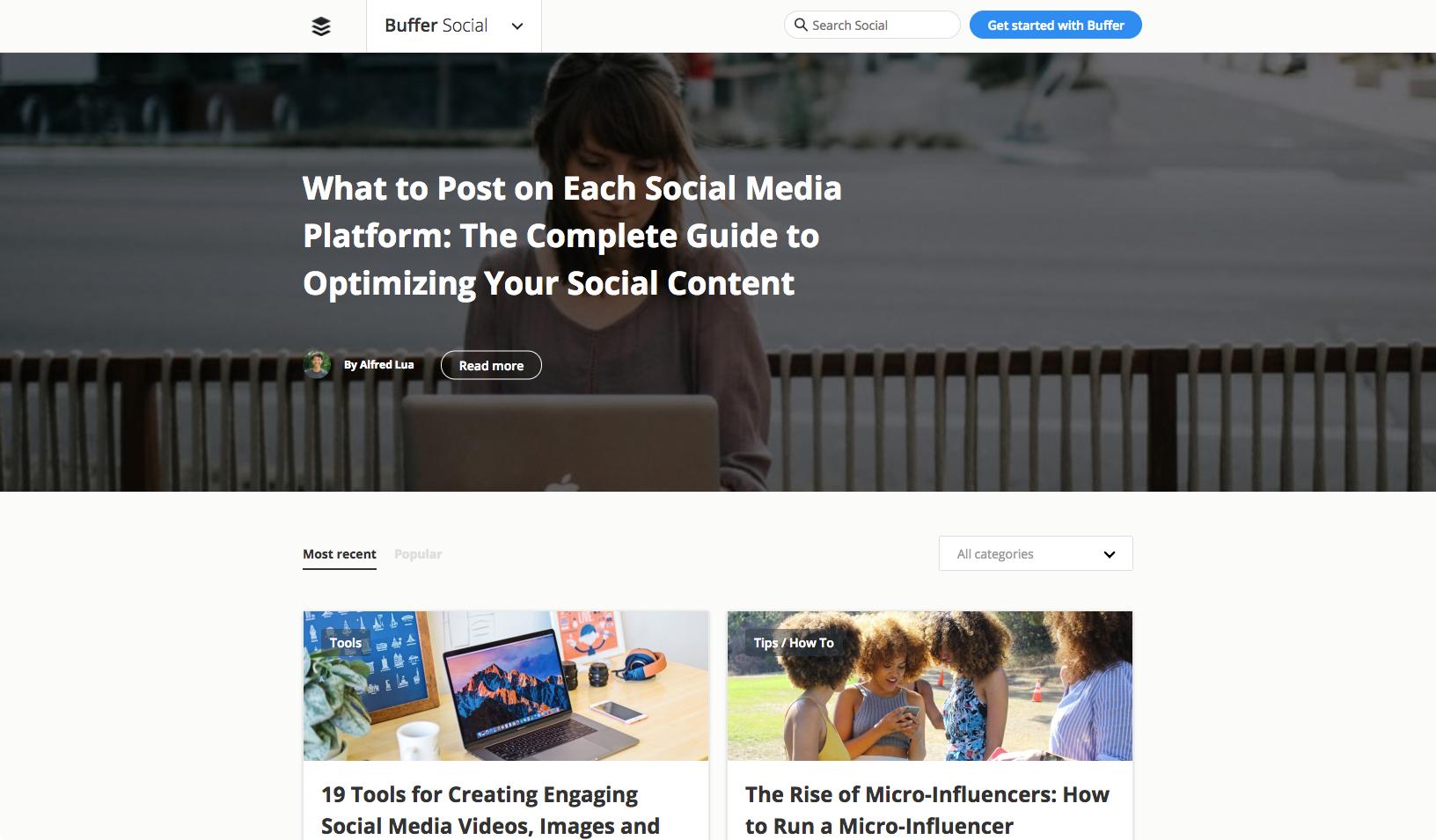 Blogs to inspire WordPress Theme Design | Buffer Social