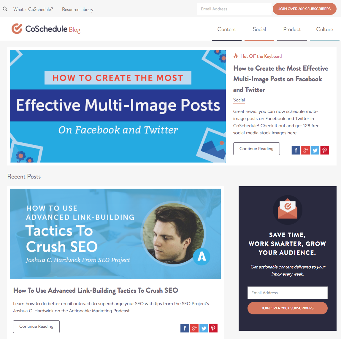 Blogs to inspire WordPress Theme Design | CoSchedule Blog