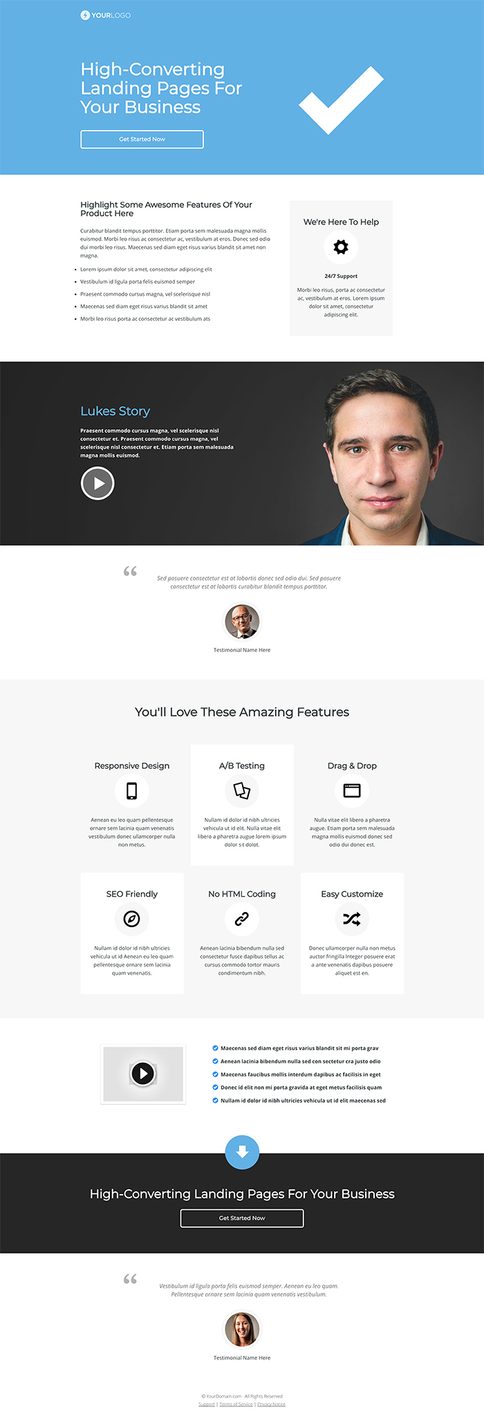OptimizePress December Template Roundup | Right Landing Page