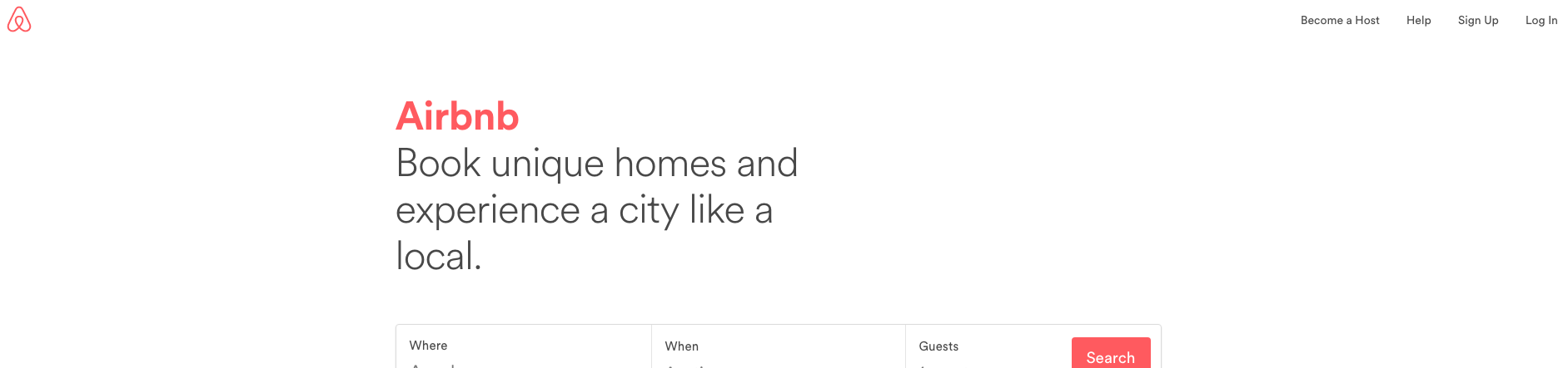 How to build the perfect homepage | AirBnB Homepage