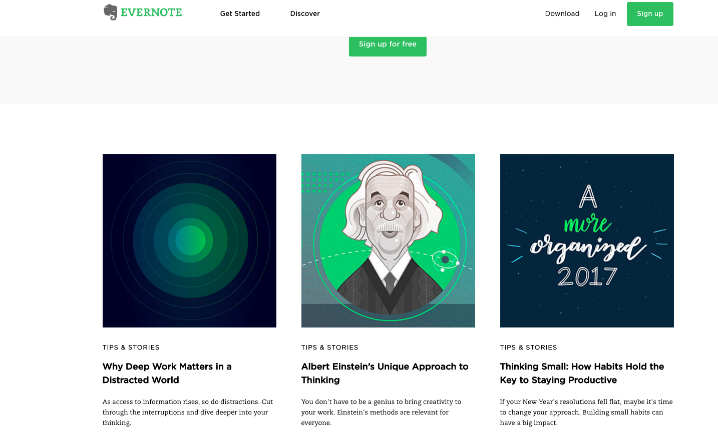 How to build the perfect homepage | Evernote Homepage