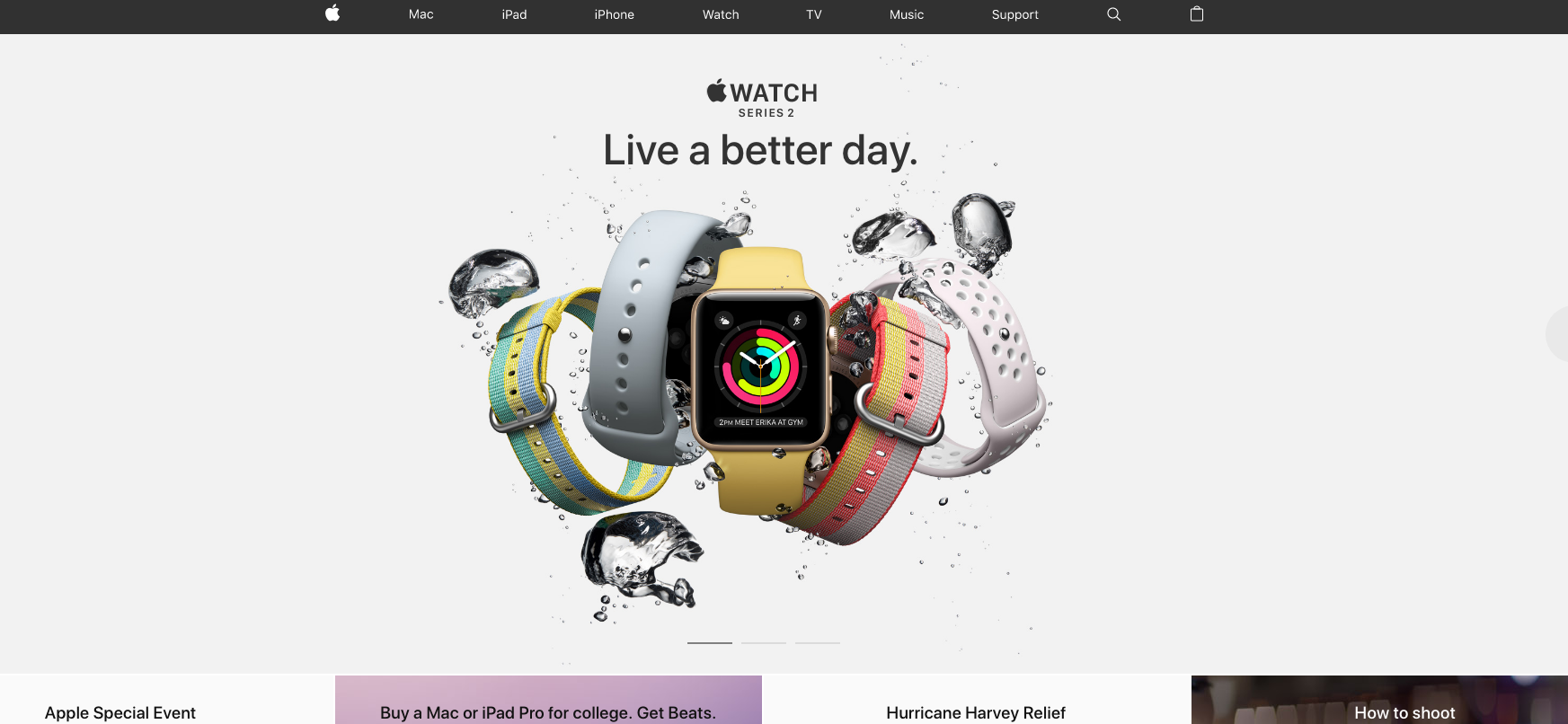 How to build the perfect homepage | Apple Watch Series 2 Homepage