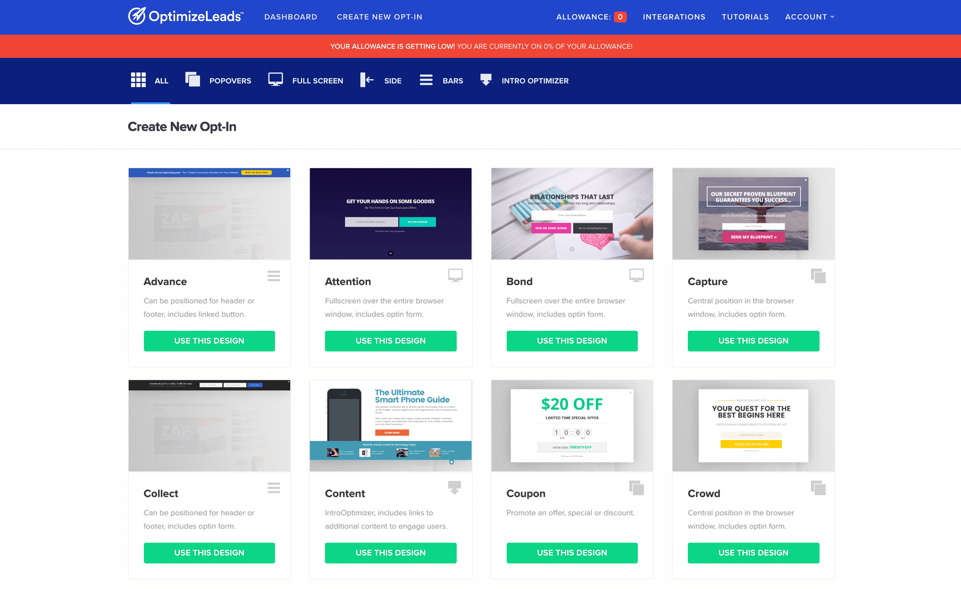 OptimizeLeads new features | OptimizeLeads Templates