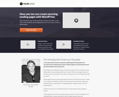 OptimizePress Templates | Classy sales page template