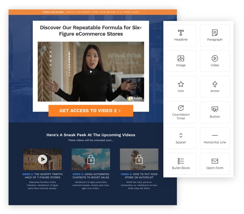 the new optimizepress is here! get a sneak peek of 5 features in theelements are the building blocks of your landing pages, sales pages and websites our new platform includes a rapidly expanding library of elements to fit