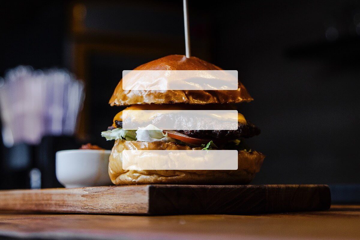 Hamburger with navigation lines