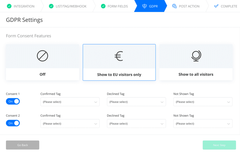 Add tags to indicate GDPR consent inside Drip