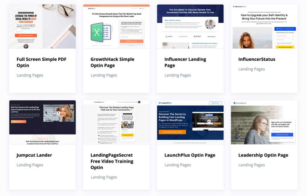 OptimizePress optin landing page templates