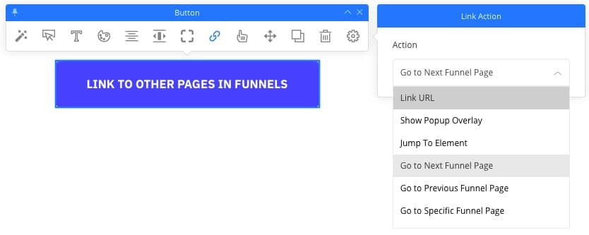 Link to funnel steps in our Funnel Builder