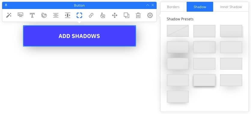 Customize button shadows