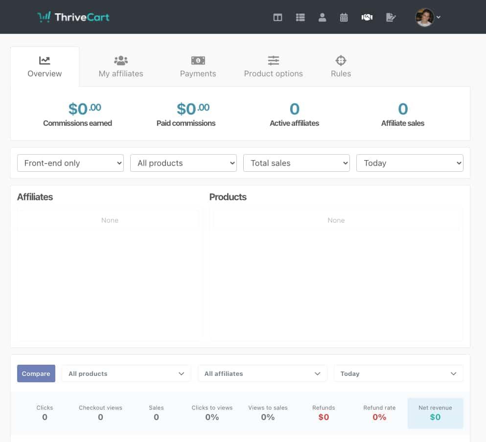 ThriveCart Affiliate Dashboard
